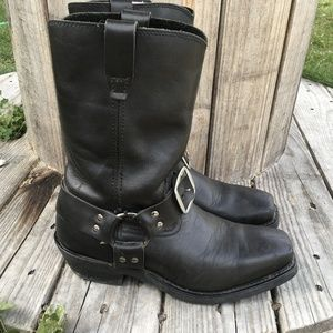 Chippewa Black Leather Engineer boots 10 W Men's